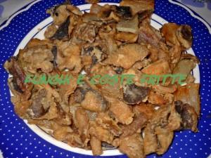 funghi e coste fritte