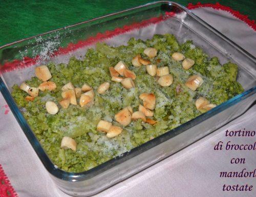 Tortino di broccoletti con mandorle tostate