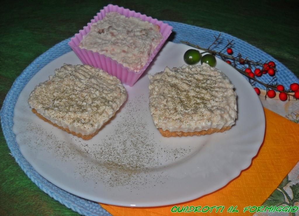 Quadrotti al formaggio