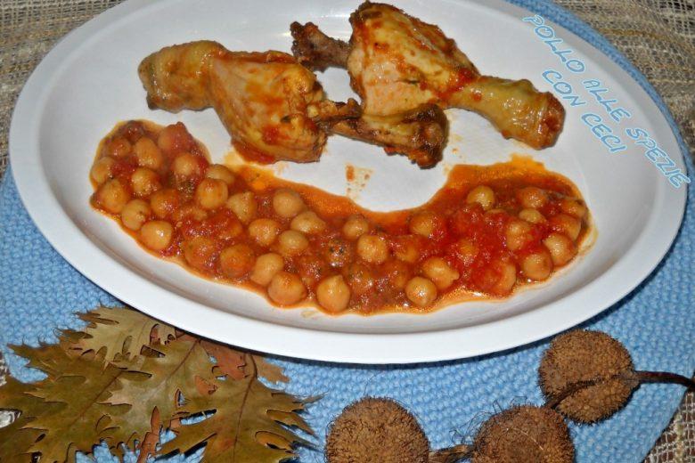 Pollo alle spezie con ceci