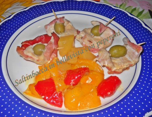 Saltimbocca in bellavista con peperoni