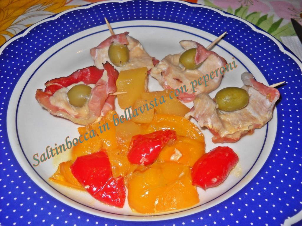 Saltimbocca in bellavista con peperoni-001