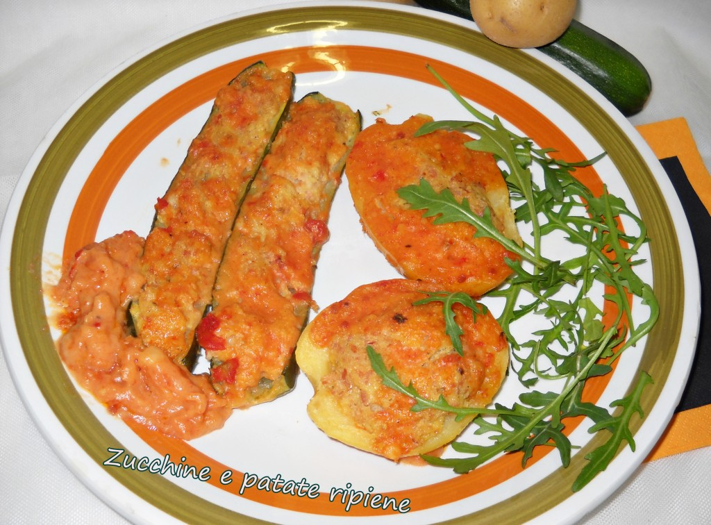 zucchine e patate ripiene