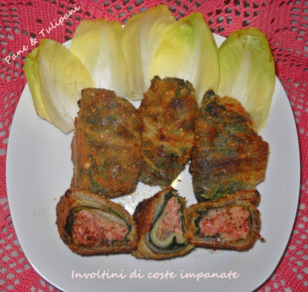 Involtini di coste impanate