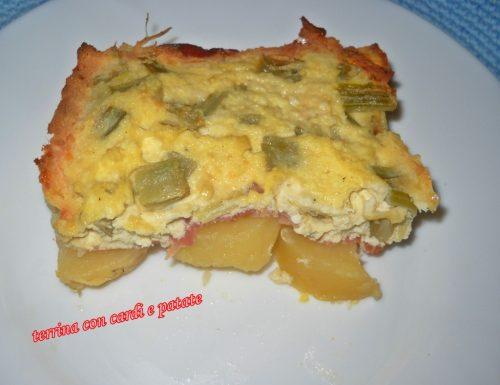 Terrina con cardi e patate (al microonde)