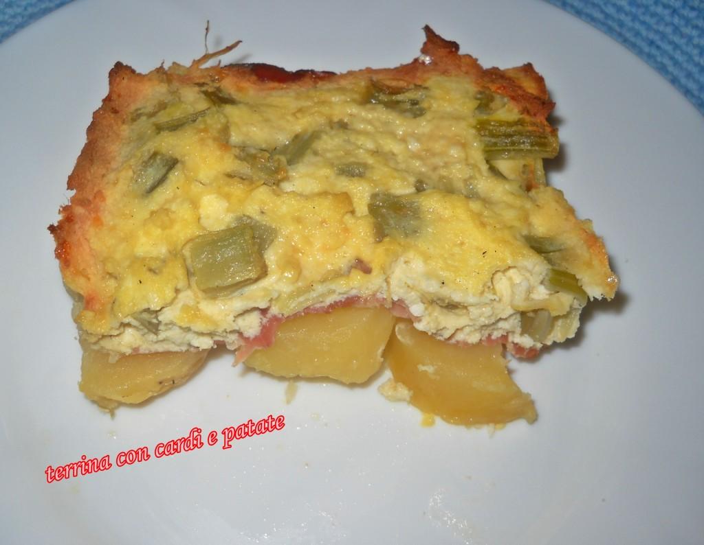 Terrina con cardi e patate