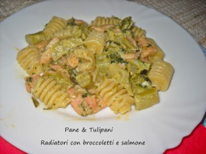 Radiatori con broccoletti al salmone