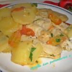 Nasello con pomodorini e patate