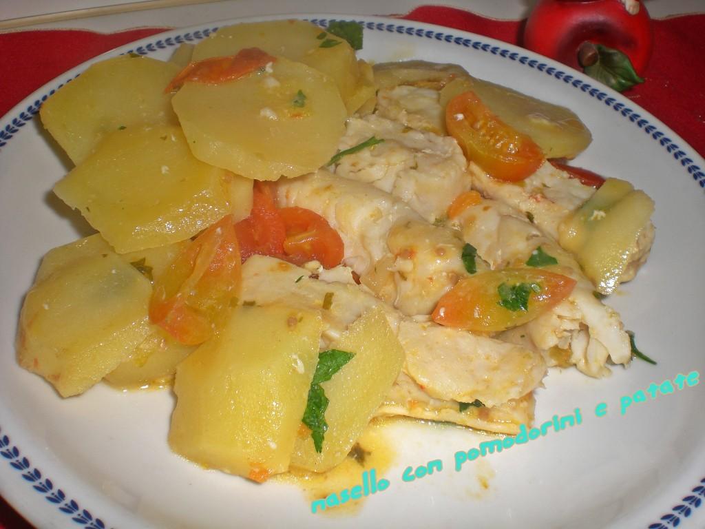 Nasello con pomodorini e patate | Pane & Tulipani