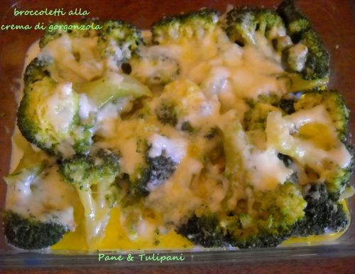 Broccoletti con crema di gorgonzola