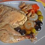 Pollo alle verdure con olive