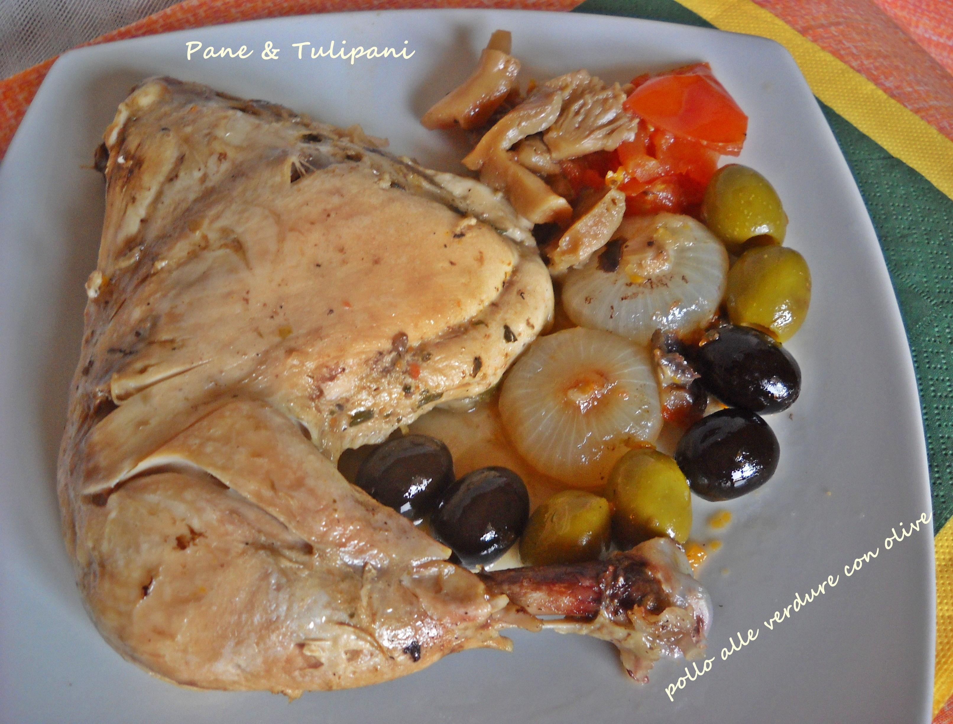 Pollo alle verdure con olive.1