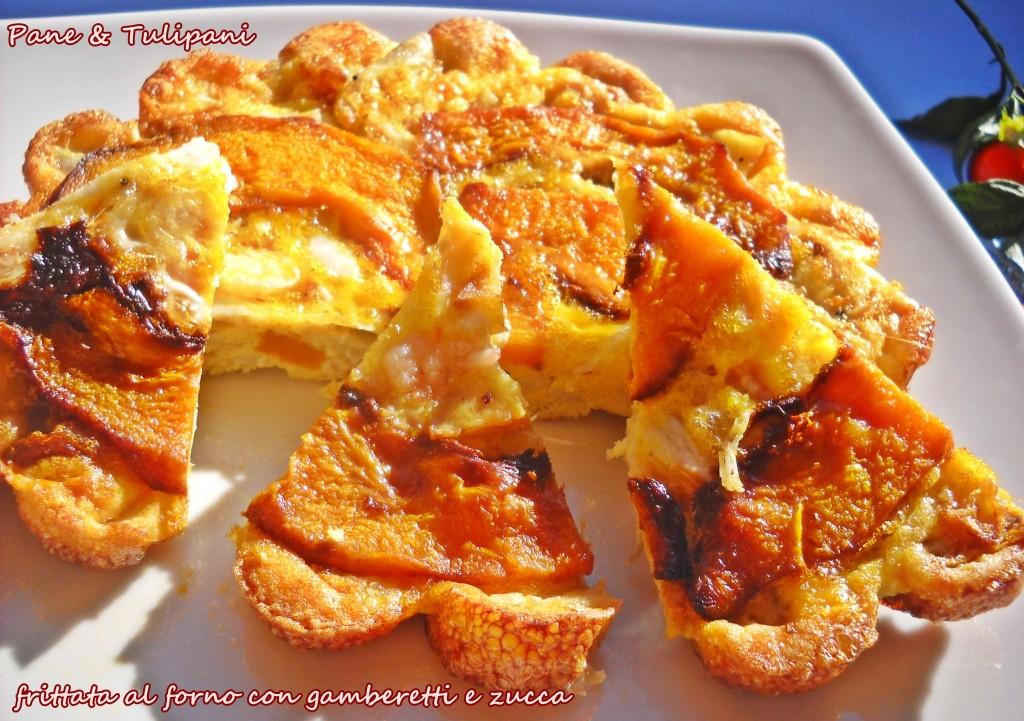 Frittata al forno con gamberetti e zucca