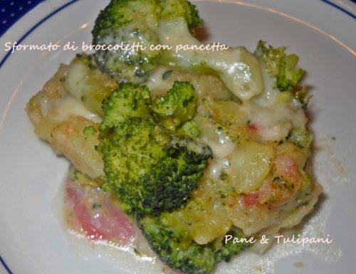 Sformato di broccoletti con pancetta