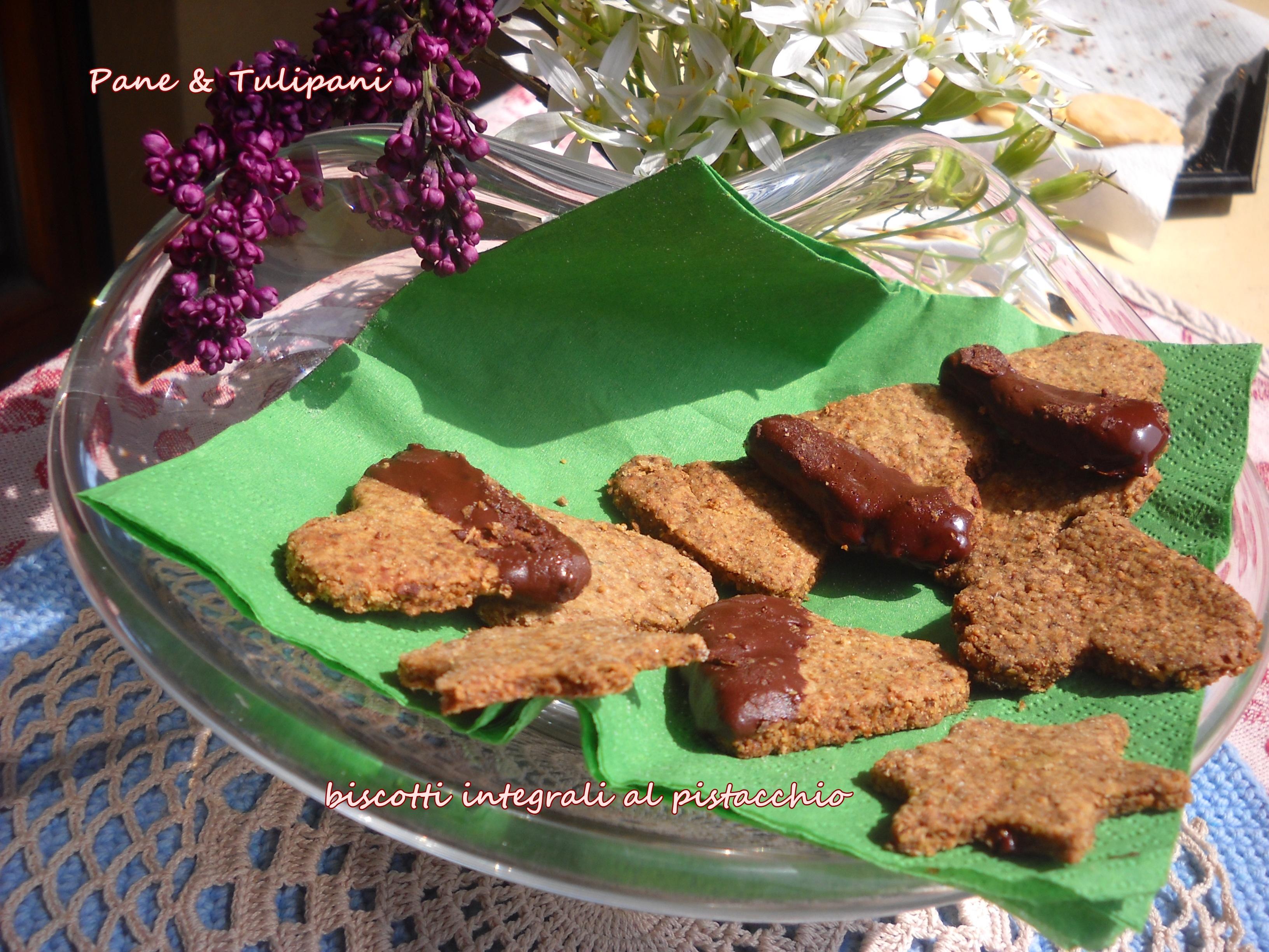 biscotti integrali al pistacchio