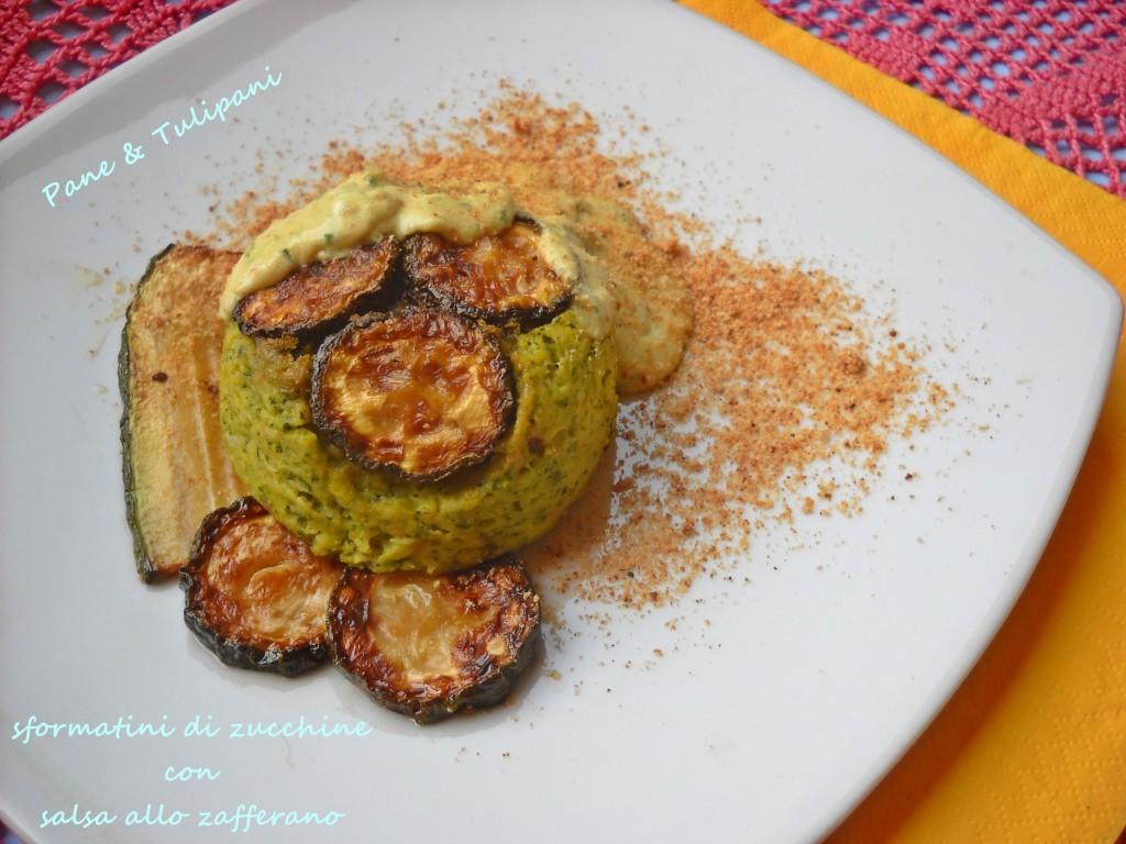 Sformatini di zucchine con salsa zafferano-1