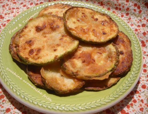 Zucchine aromatiche fritte