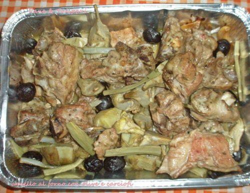 Agnello con olive e carciofi