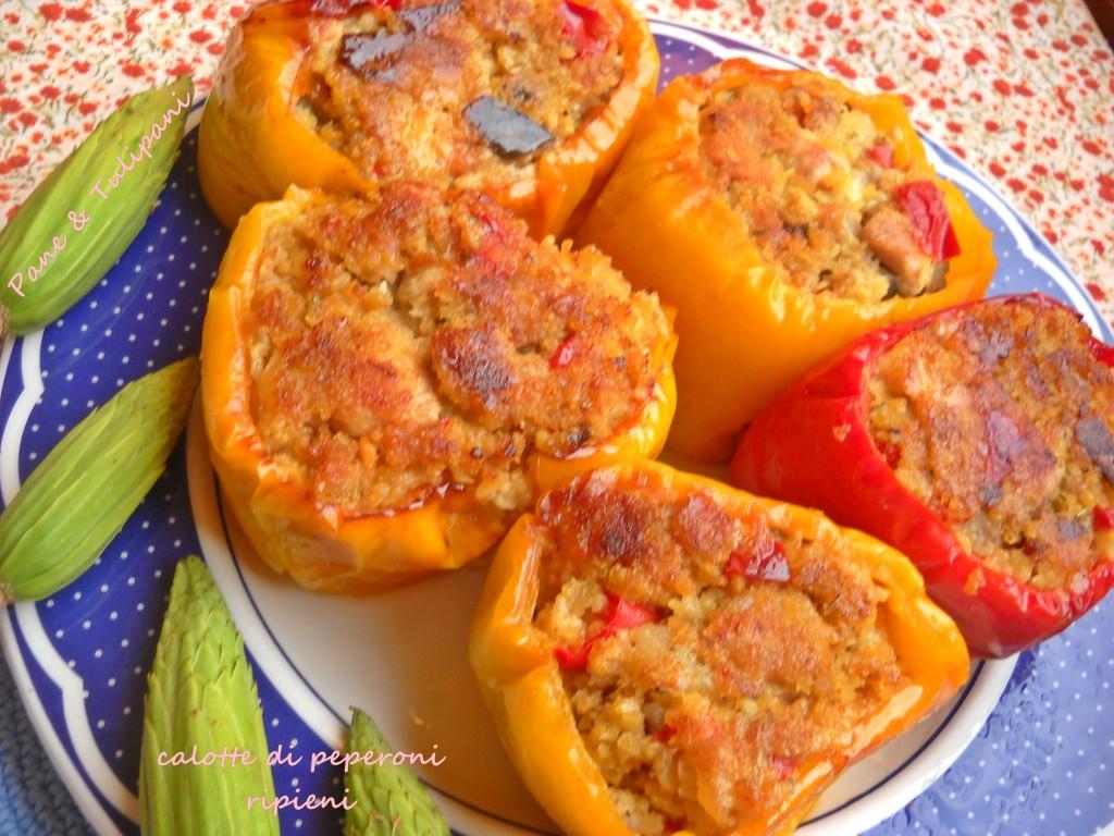 Calotte di peperoni ripieni-1