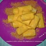 Rigatoni alla crema  di peperoni e crescenza
