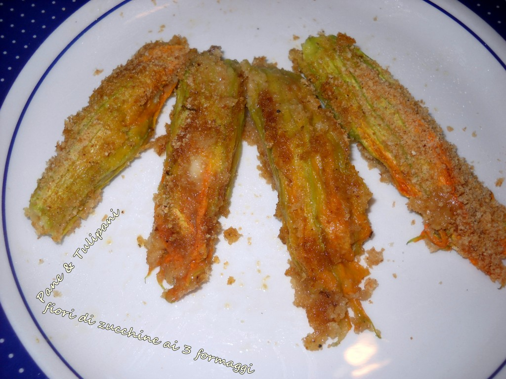 fiori di zucchine ai 3 formaggi