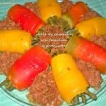 Stella di peperoni con fagiolini prosciutto (al microonde)