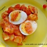 Uova sode con patate e silene
