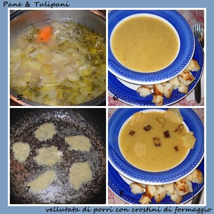 vellutata di porri con crostini di formagio.3