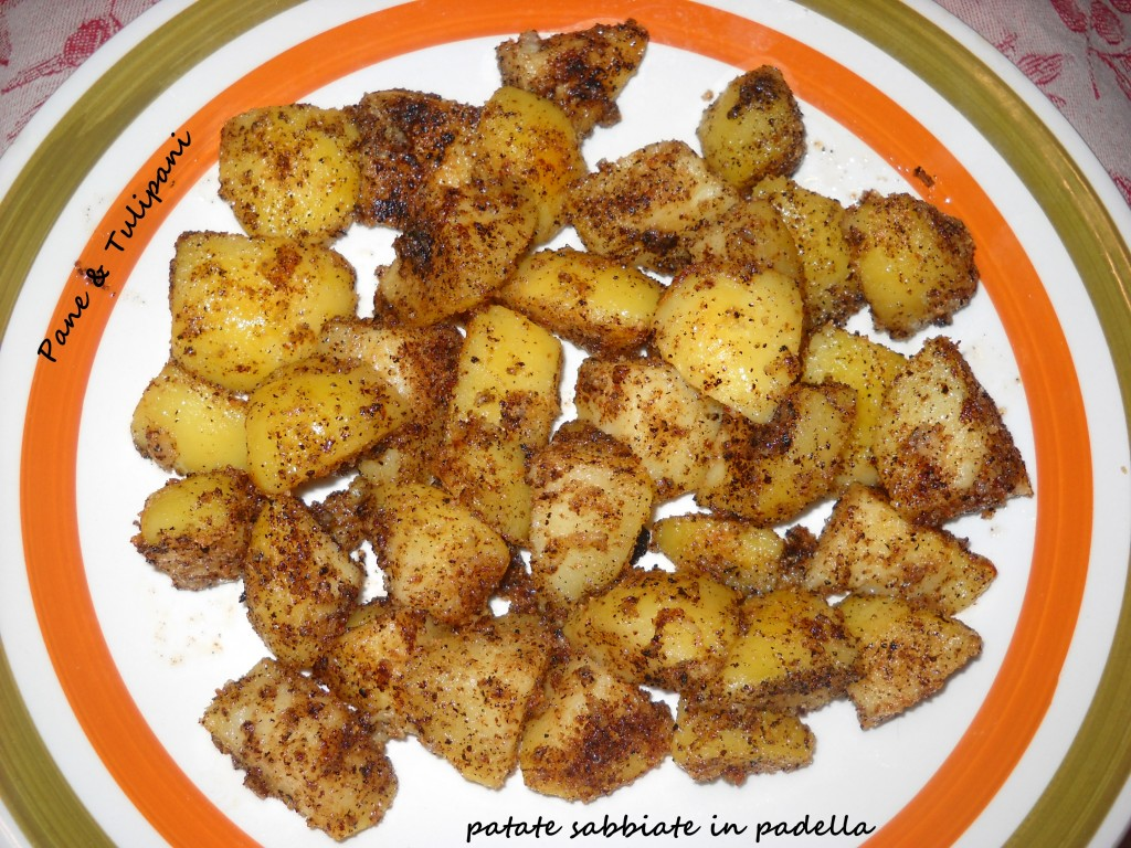 Patate sabbiate in padella.1