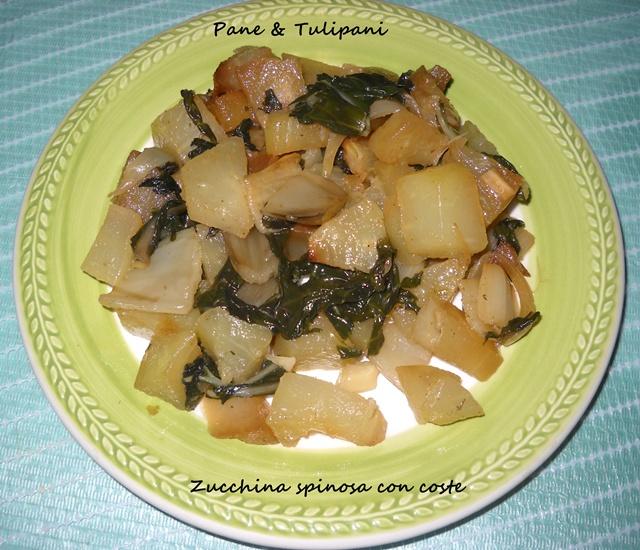 Ricetta Zucchine Spinose In Padella.Zucchine Spinose Con Coste Pane Tulipani