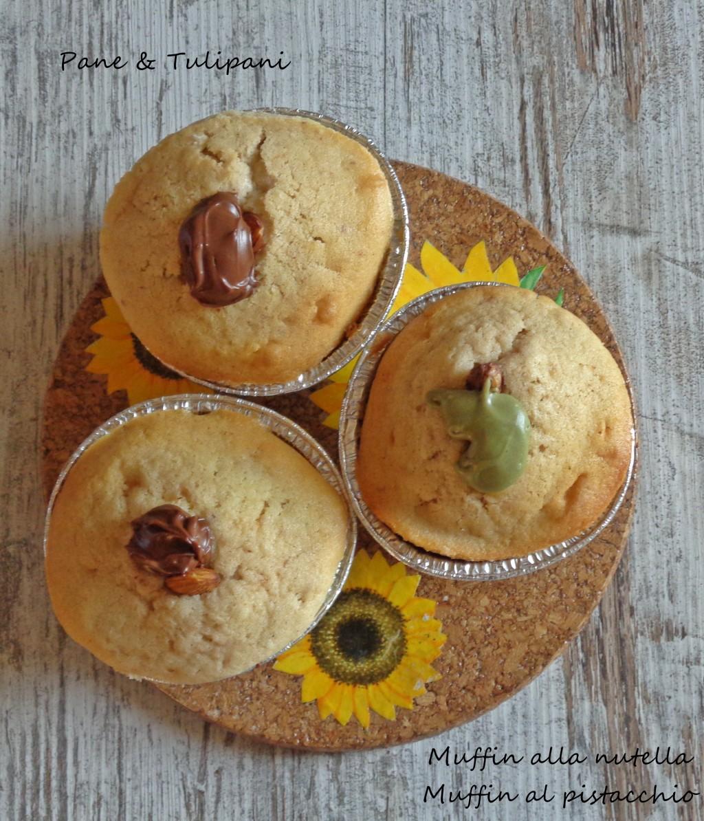 muffin alla nutella-muffin al pistacchio