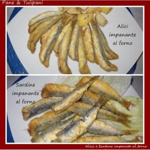 Alici e sardine impanante al forno