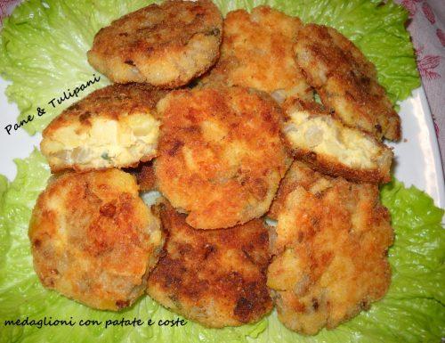 Medaglioni con patate e coste