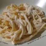 Spaghetti al sugo di noci e limone
