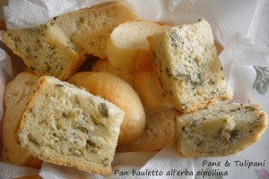pan bauletto all'erba cipollina