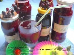 Succo di frutta ai mirtilli