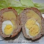 Arrosto con uovo sodo al doppio tuorlo