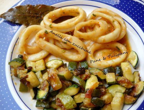 Anelli con zucchine