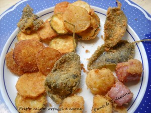 Fritto misto ortaggi e carne