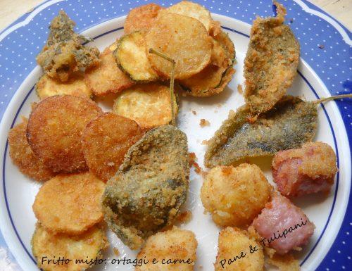 Fritto misto con ortaggi e carne