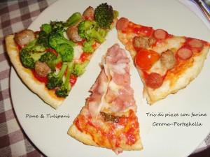 """tris di pizza per """"giropizza"""" in famiglia.1"""