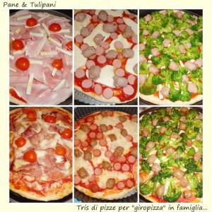 """tris di pizza per """"giropizza"""" in famiglia"""