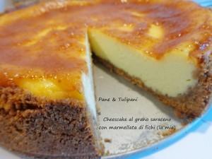 Cheescake al grano saraceno con marmellata di fichi.5