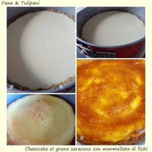 Cheescake al grano saraceno con marmellata di fichi.7