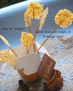 Lecca lecca con scaglie di formaggio.2