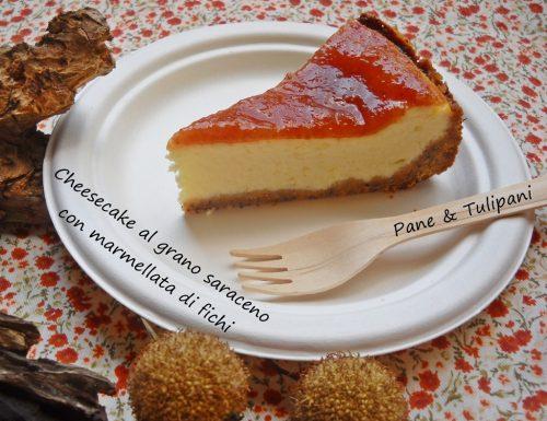 Cheesecake di grano saraceno e marmellata di fichi