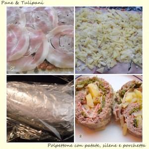 polpettone con patate, silene e porchetta.3