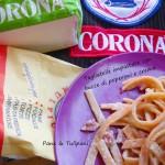 Tagliatelle impastate con bucce di peperoni