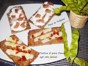 Tartine di pane Pema agli otto cereali