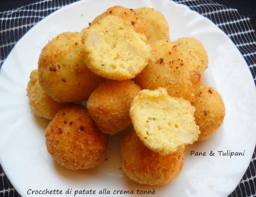 Crocchette di patate con crema tonnè
